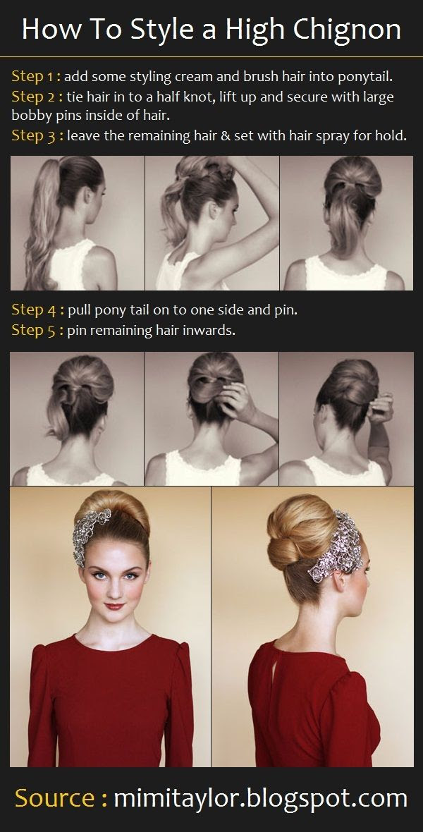 How To Do a High Chignon | Beauty Tutorials