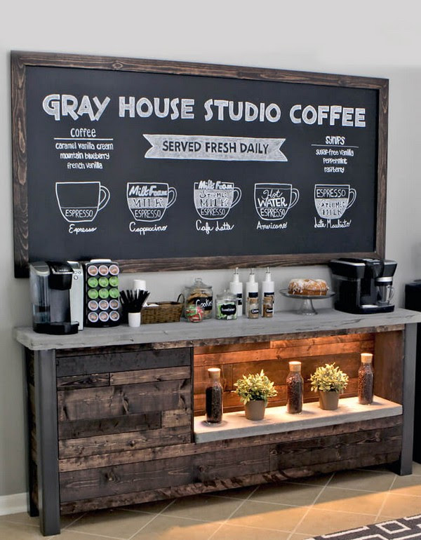 15 Great Home Coffee Station Ideas For Your Morning Buzz The Art In Life