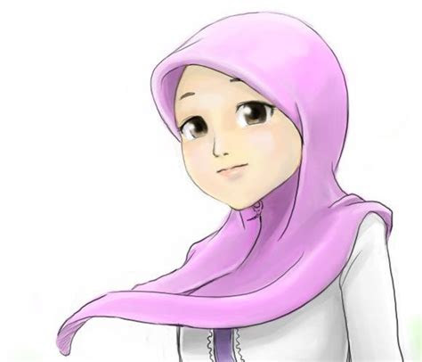 gambar kartun wanita muslimah cantik kumpulan gambar cewek