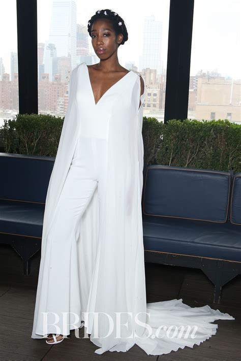 Gemy Maalouf Wedding Pantsuit with Cape Spring 2018   Brides