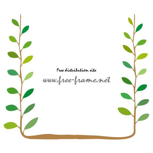 植物のイラストフレーム枠 無料商用可能枠フレーム素材配布