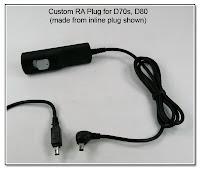 CP1058: Custom RA (Down) Plug for D70s, D80