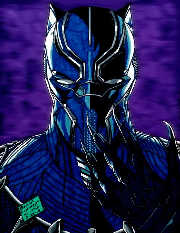 My illustration of BLACK PANTHER.