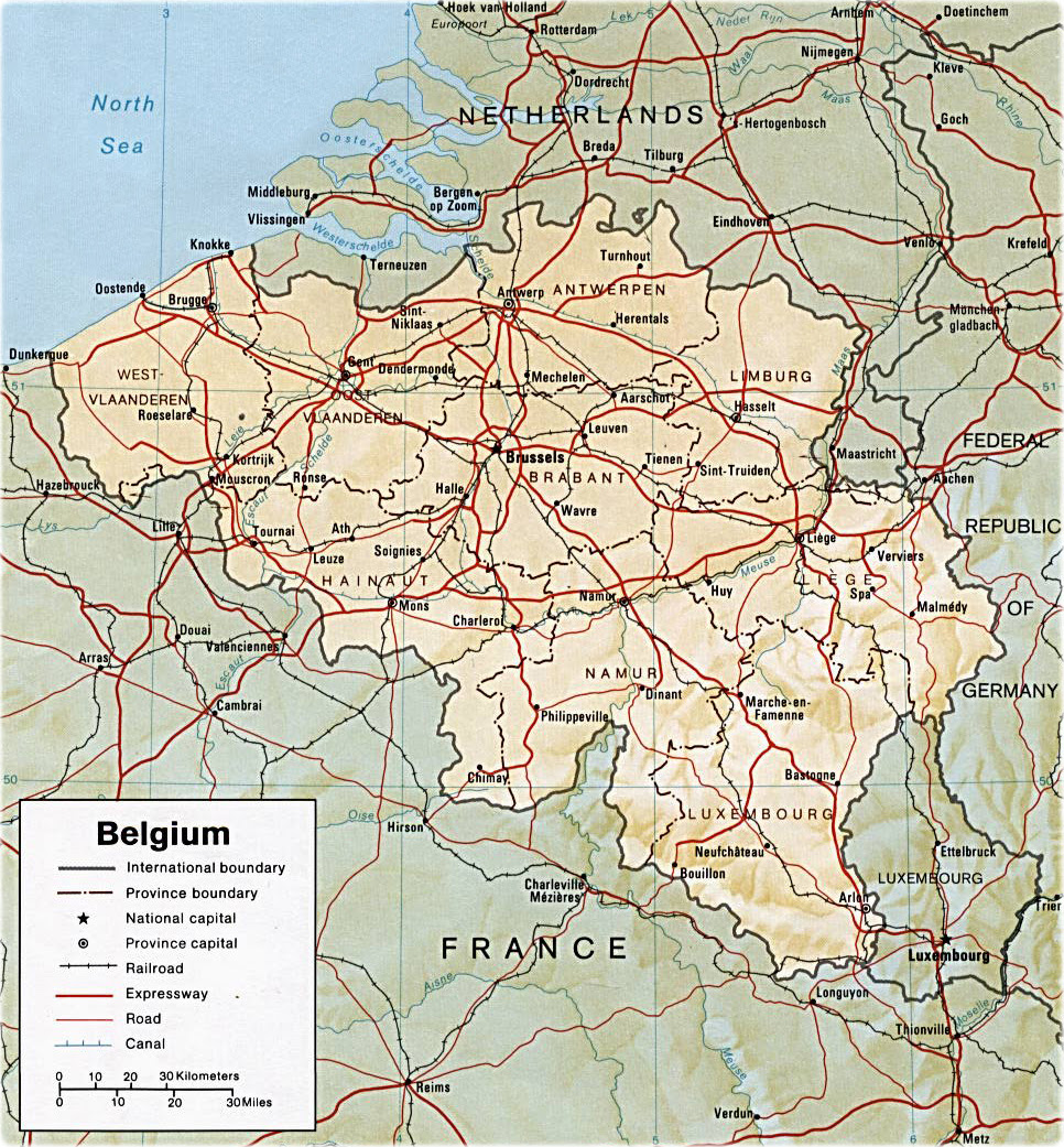 Map Belgium - Travel
