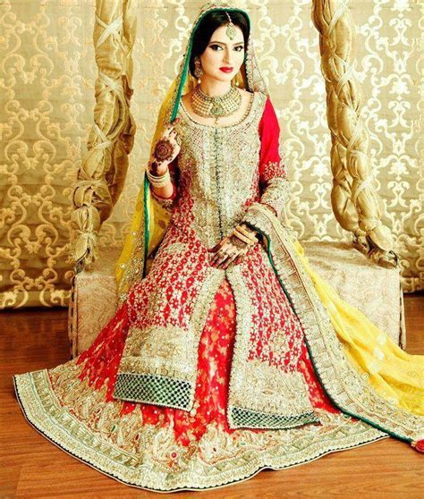 Red wedding dresses designer Collection 2013 In pakistan