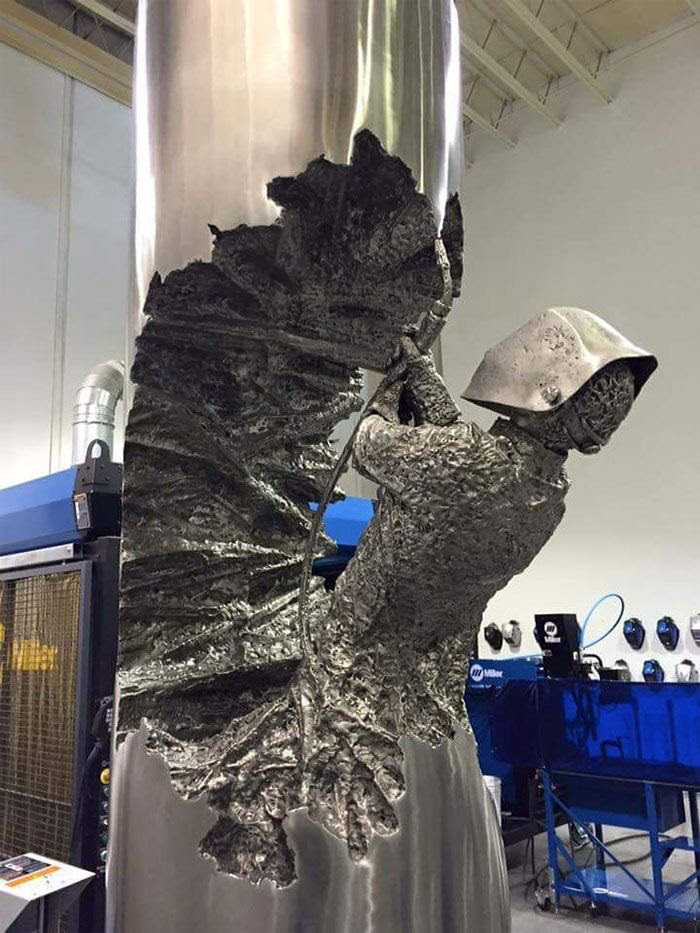 Metal Artist Stuns With Welded Masterpieces American Welding Society Education Online