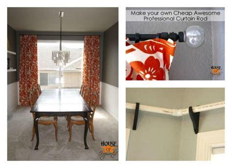 DIY PVC Pipe Curtain Rod