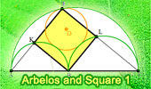 Archimedes' Arbelos and Square.