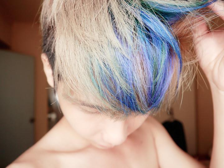 typicalben blue purple highlights hair