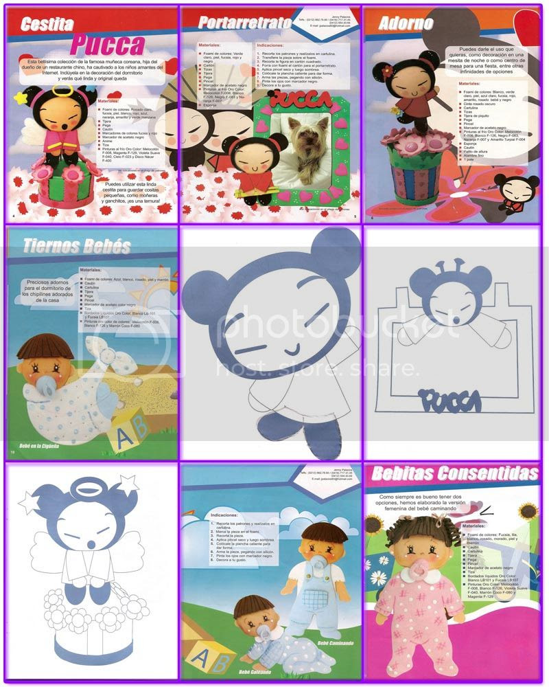 revistas manualidades foami baby shower