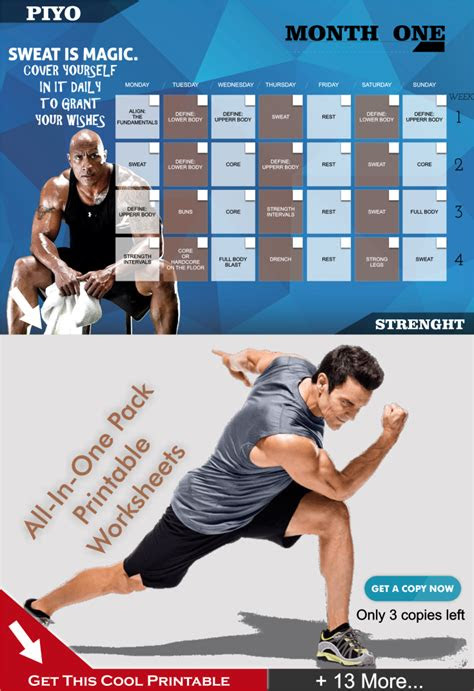 piyo workout schedules