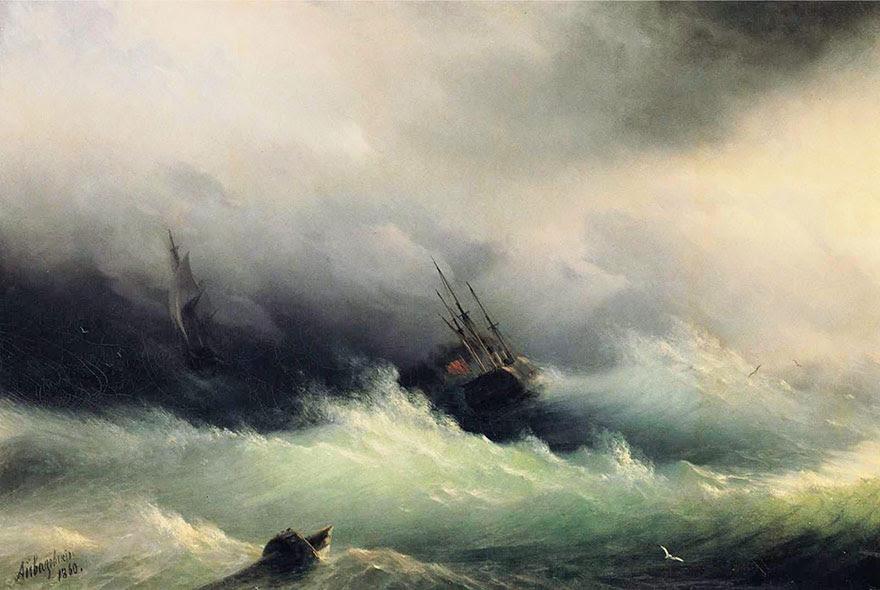 -pintura del siglo fascinantes-translúcidos ondas-19a-ivan-konstantinovich-aivazovsky-2