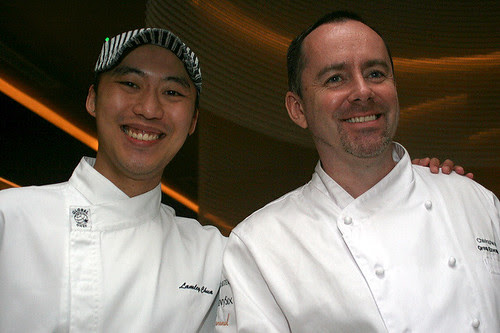 Chef Christopher Millar (right) and his sushi chef