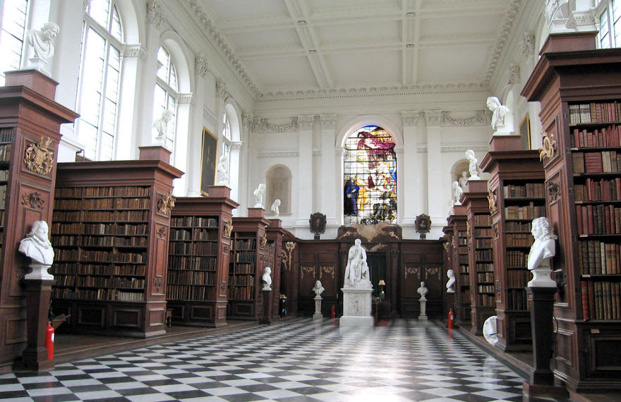 Wren Library, Trinity College, Cambridge (uk)