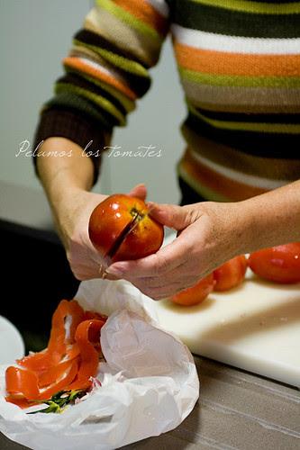 Pelando i pomodori