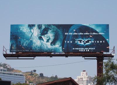 The Dark Knight movie billboard on Santa Monica Blvd L.A. - Heath Ledger as The Joker