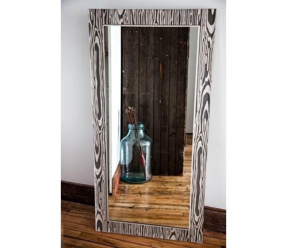 24x48 Classic Grey Silver Mirror Bella Moulding