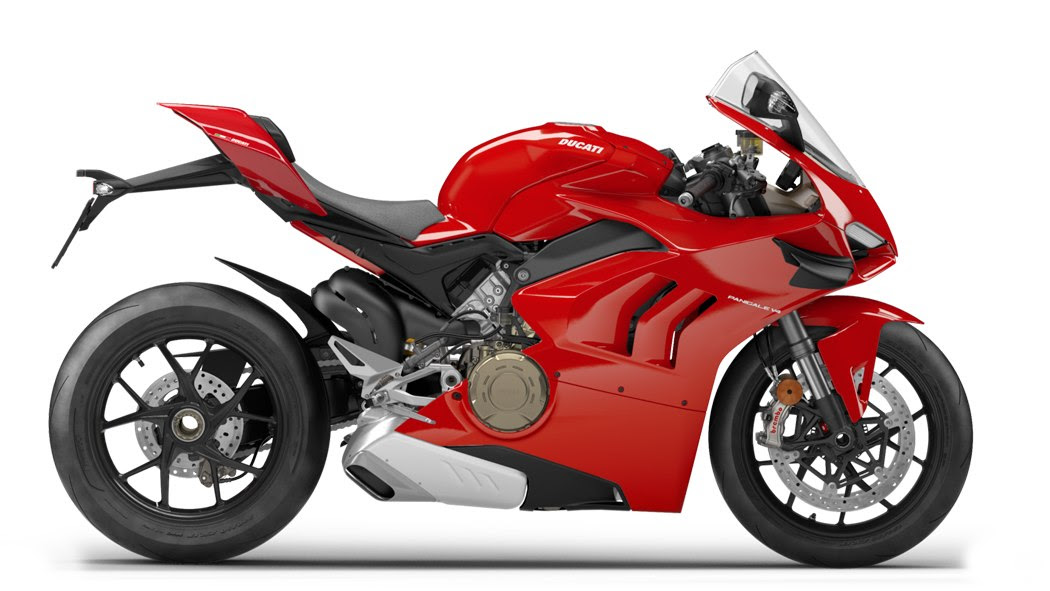 The updated Ducati Panigale V4 gets functional fairing-mounted winglets. Image: Ducati
