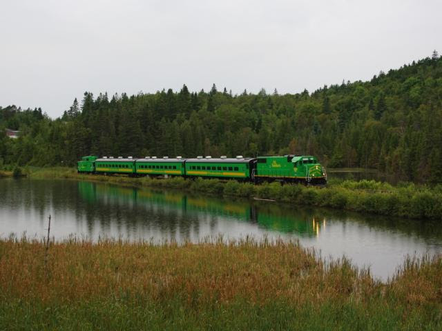 NBSR 2319 and passenger train. Photo by David Morris
