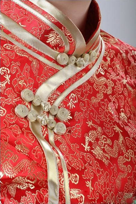 Chinese Traditional Long Slap Up Cheongsam Bridal Wear Red