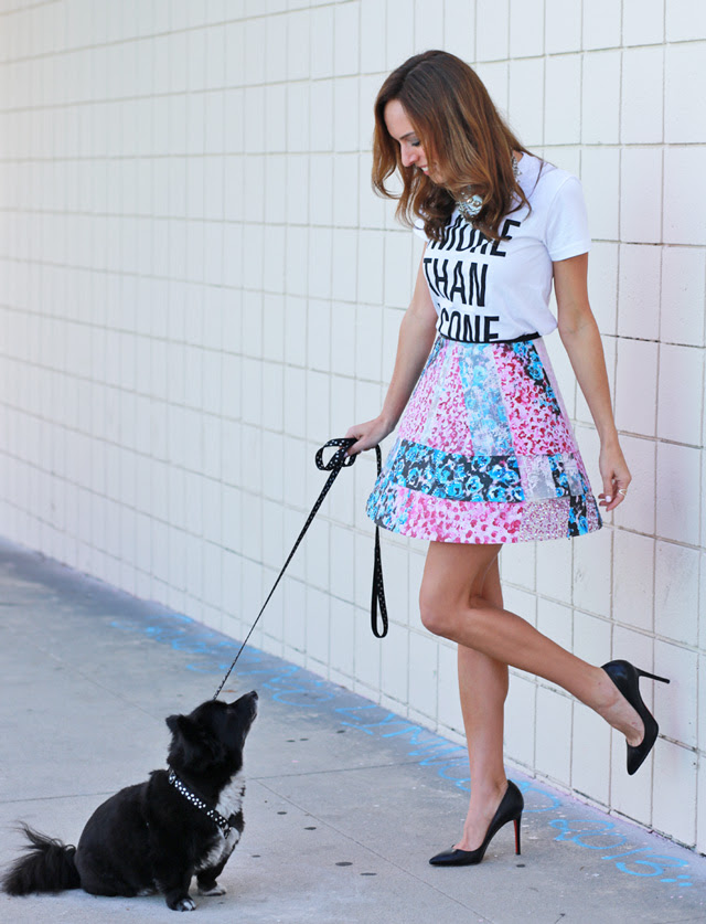 Sydne-Style-more-than-a-cone-best-friends-animal-society-charity-art-project-how-to-diy-a-skirt-swarovski-crystals-acrylic-paint-plastic-christian-louboutin