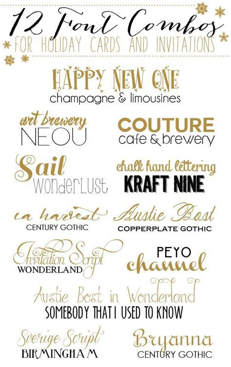 18 best Wedding Invitation Font Combinations images on