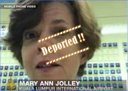 Altantuya-NajibRazak-RazakBaginda - Al-Jazeera Murder in Malaysia - Mary Ann Jolley Deported