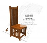 Mission style Dining Room Chair Full Size Woodworking Plan - fee plans from WoodworkersWorkshop® Online Store - Mission style,solid wood furniture,mortise and tenons joinery,patterns,drawings,plywood,plywoodworking plans,woodworkers projects,workshop blueprints