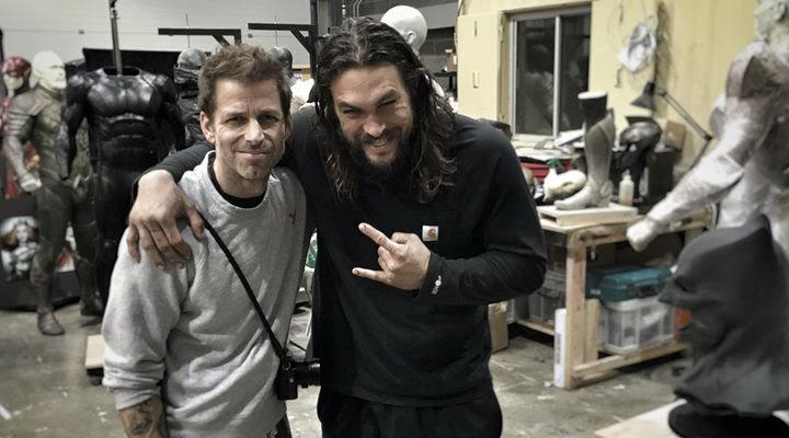 Zack Snyder y Jason Momoa en el set de 'La Liga de la Justicia. Parte 1'