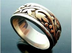 14kt Gold Wedding Band Ring wide vines eternity white and