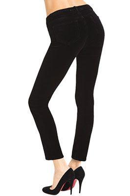 J Brand Mid-Rise Skinny Leg Velvet Pant