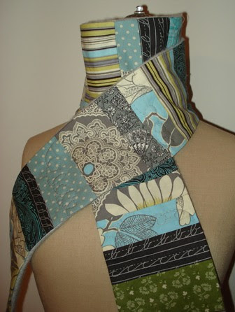 the stopping to watch mt. rainier peek through the clouds scarf, a selma quilt for your neck