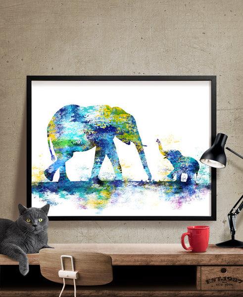 Large Abstract Painting Elephant Art Print Elephant Abstract Art W Fine Art Center