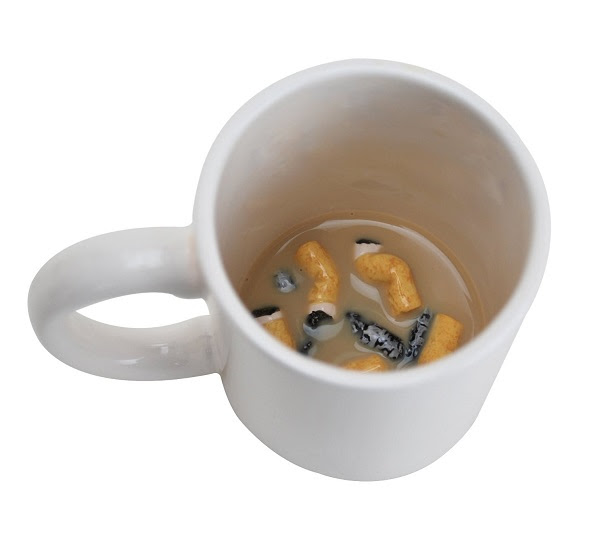 Drink Coffee From A Mug With Fake Cigarette Butts At The Bottom