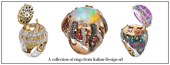 A collection of rings from Italian-Design srl
