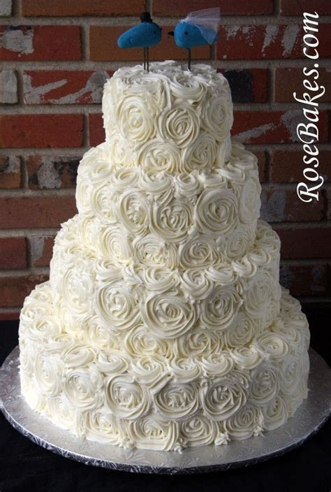 25  best ideas about Rose wedding cakes on Pinterest