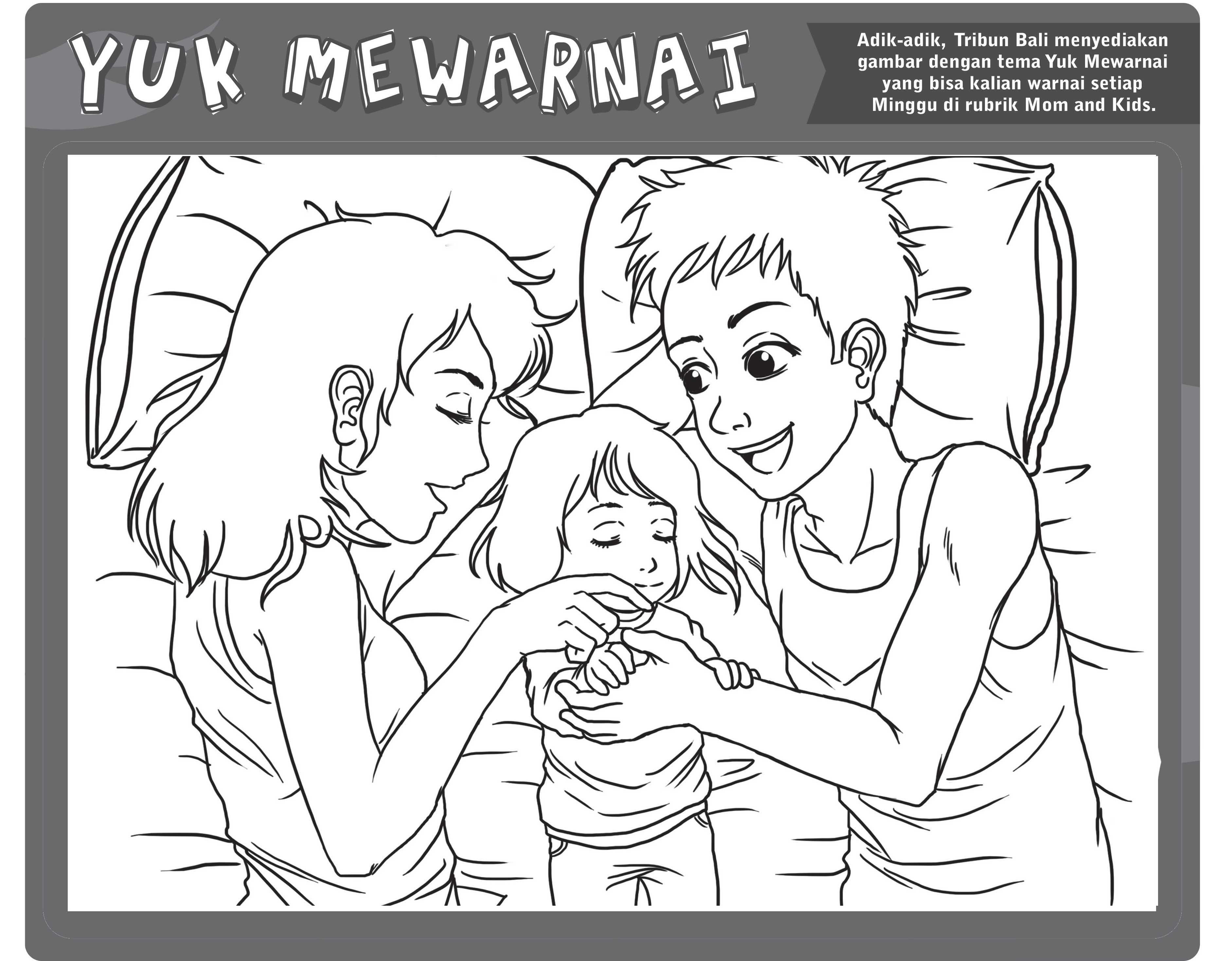 6 Sketsa Gambar Mewarnai Untuk Buah Hati Silakan Disave Tribun Bali