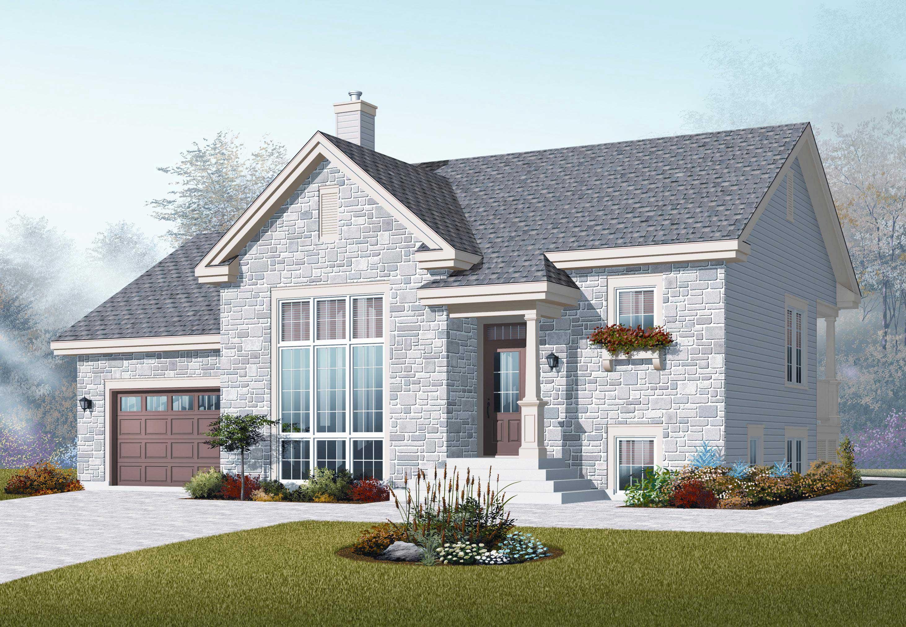 Split Level House Plans Home Design 3266