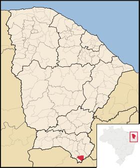 Localização de Jati