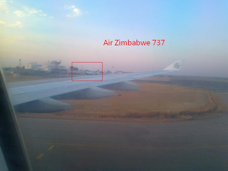Air Zimbabwe 737 at Harare