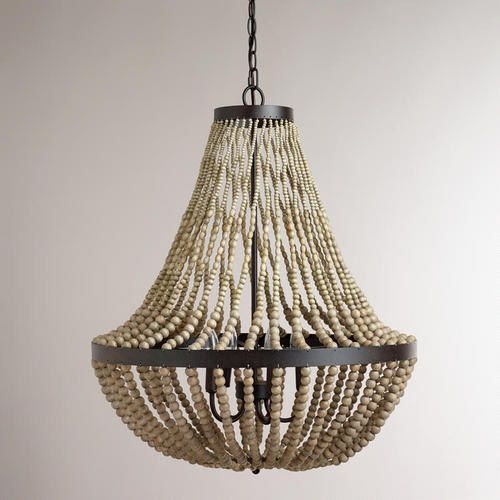 WorldMarket.com: Large Wood Bead Chandelier