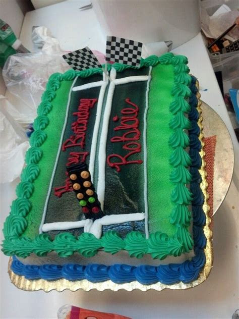 Drag racing cake   My Cake Portfolio   Birthday cake for