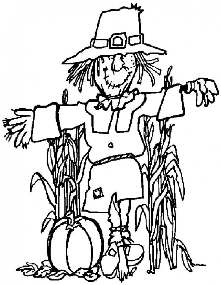 Get This Scarecrow Coloring Pages to Print for Kids KIFps