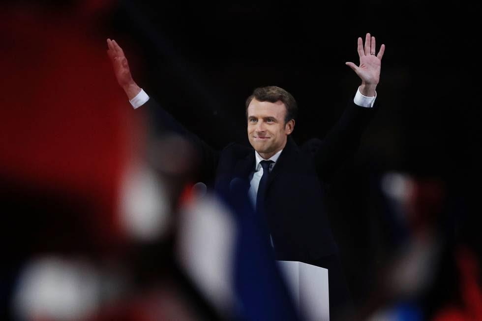 Emmanuel Macron, presidente electo de Francia.