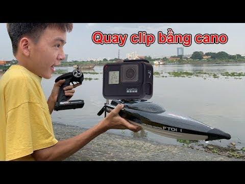 Ra Sông Sài Gòn Thử Gắn Máy Quay Gopro Vào Cano Điều Khiển Chạy