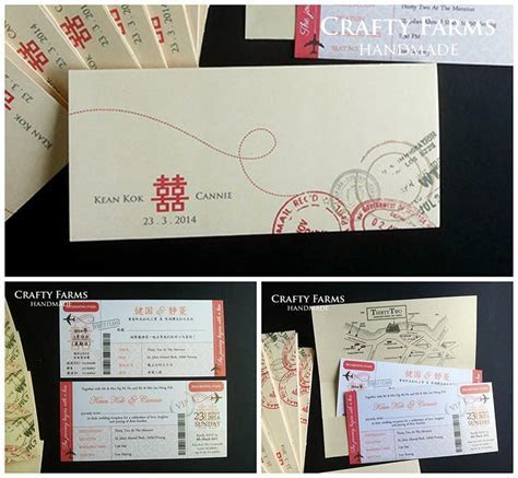 Wedding Card Malaysia   Crafty Farms Handmade : Red and