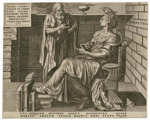Dialectica -- Vti hominem ratione - Cornelis Cort 1565 (Cock, Floris) (Folger)