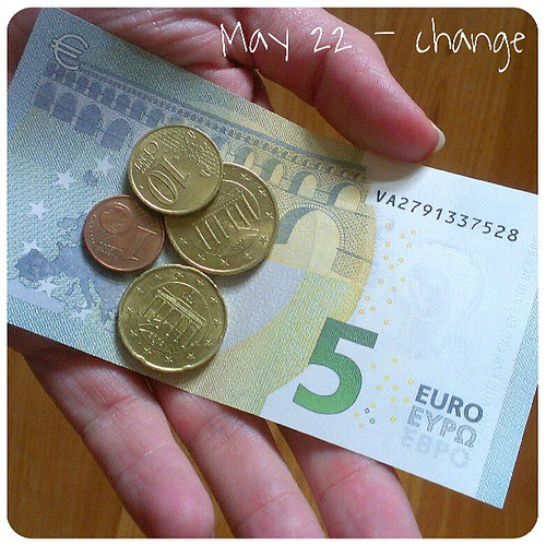 May 22: change .. the 5€ #changed its look .. #fmsphotoaday