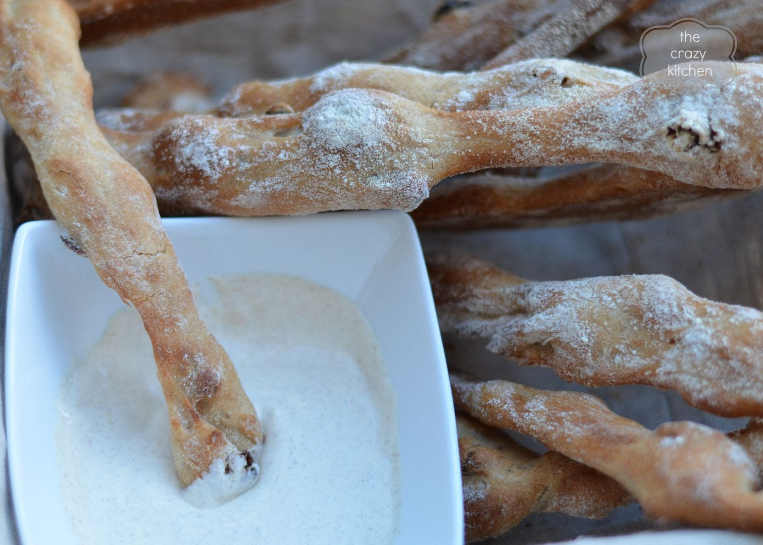 Pecan Raisin Breadsticks
