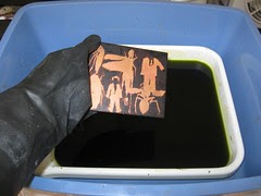 Etching Step 5: Etching the Aquatint